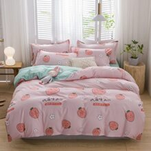 Strawberry Print Bedding Set Without Filler