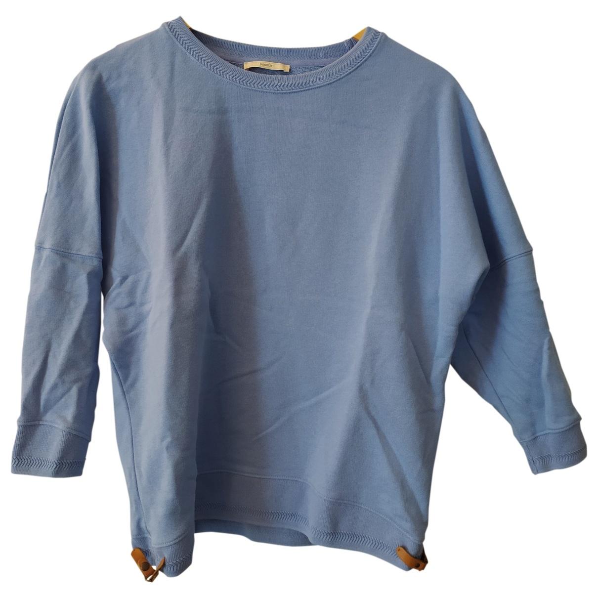 Sessun - Pull   pour femme en coton - bleu