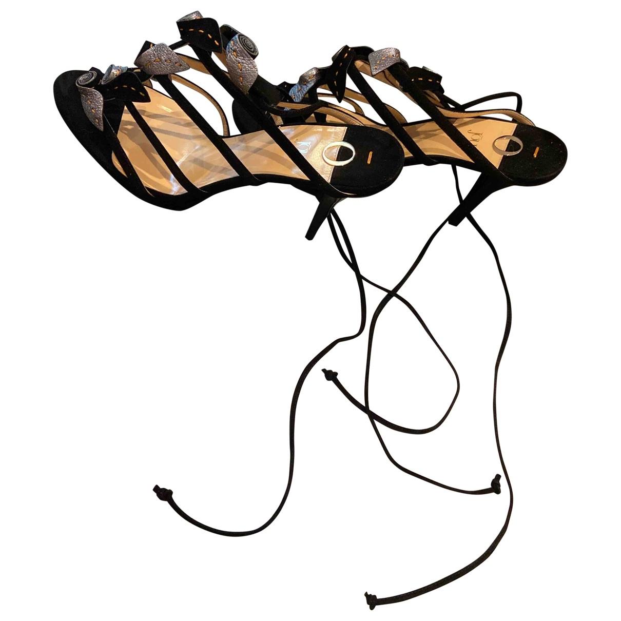 O Jour - Sandales   pour femme en suede - noir