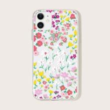 1pc Floral Print iPhone Case