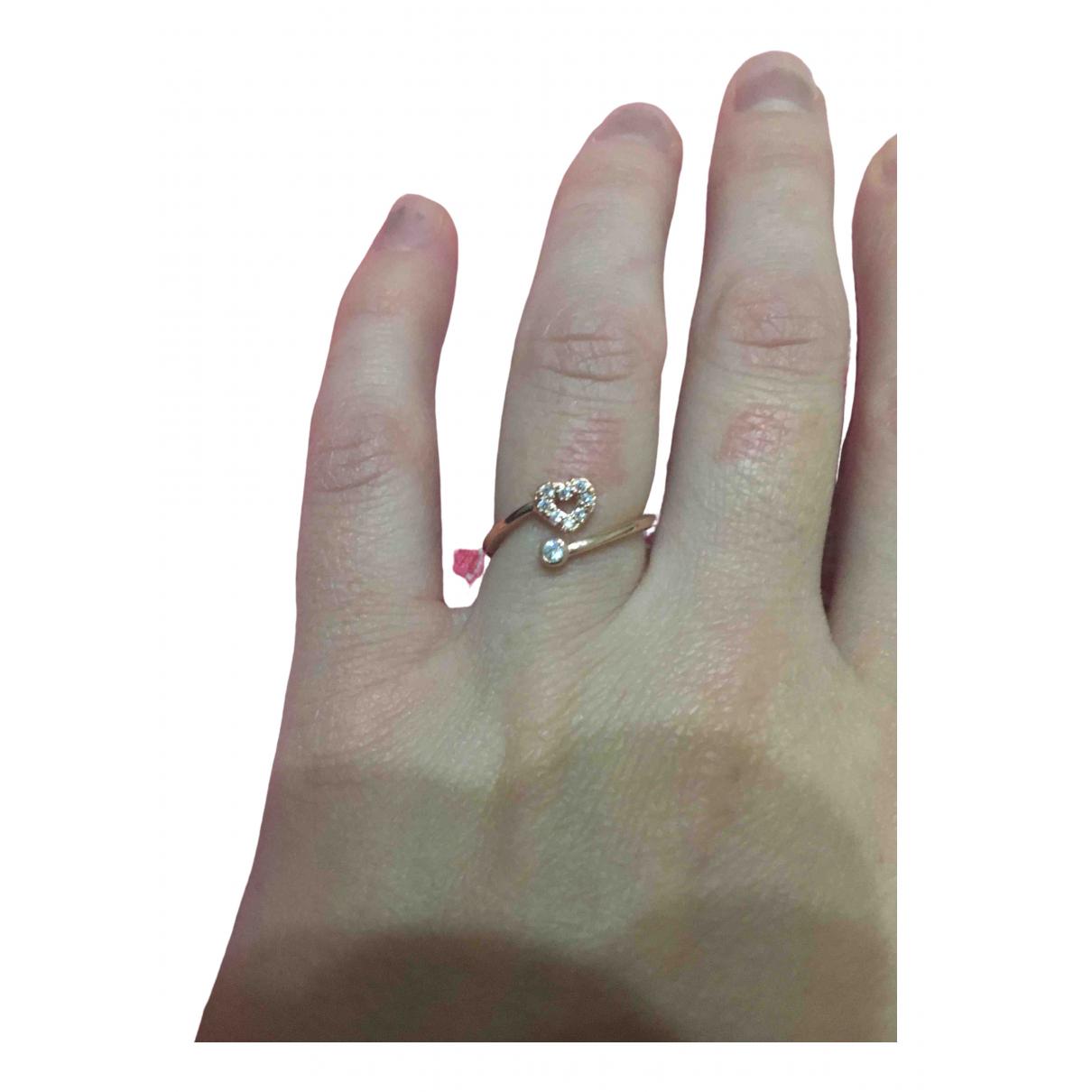 - Bague Motifs Coeurs pour femme en plaque or - rose