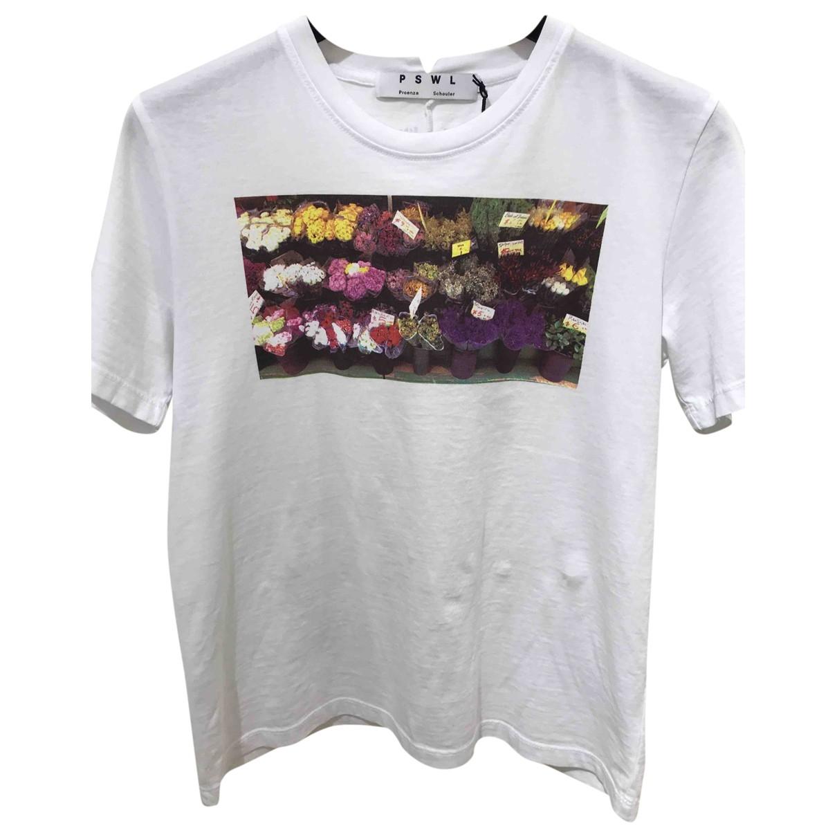 Proenza Schouler - Top   pour femme en coton - blanc