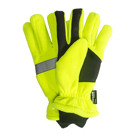 QuietWear Waterproof Thinsulate High Visibility Fleece Gloves, Large , Green