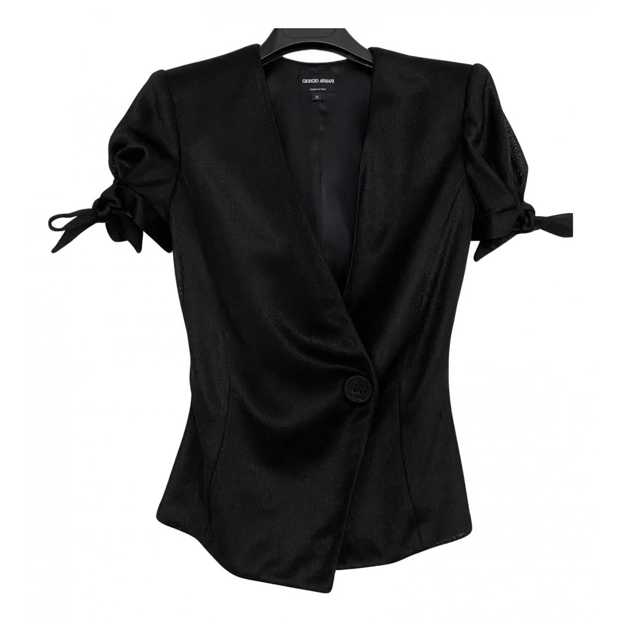 Giorgio Armani - Veste   pour femme en soie - noir