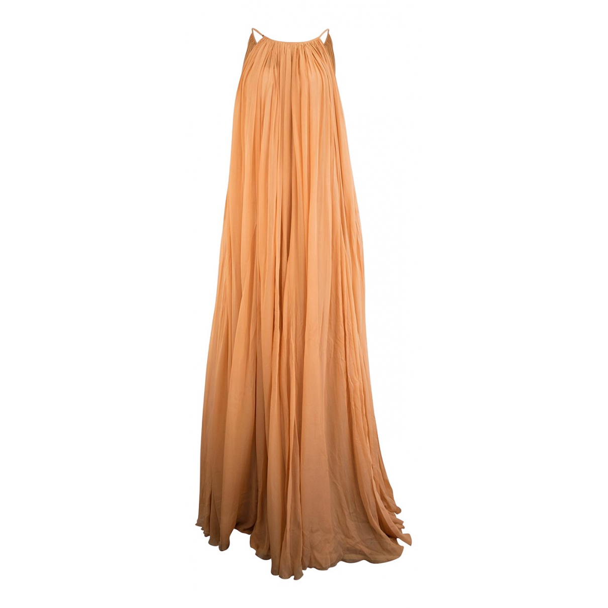 Salvatore Ferragamo \N Kleid in  Orange Synthetik