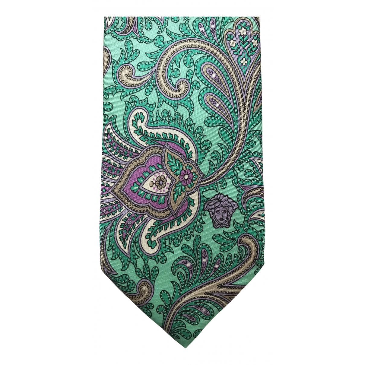 Versace - Cravates   pour homme en soie - multicolore
