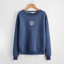 Sun Graphic Drop Shoulder Sweatshirt