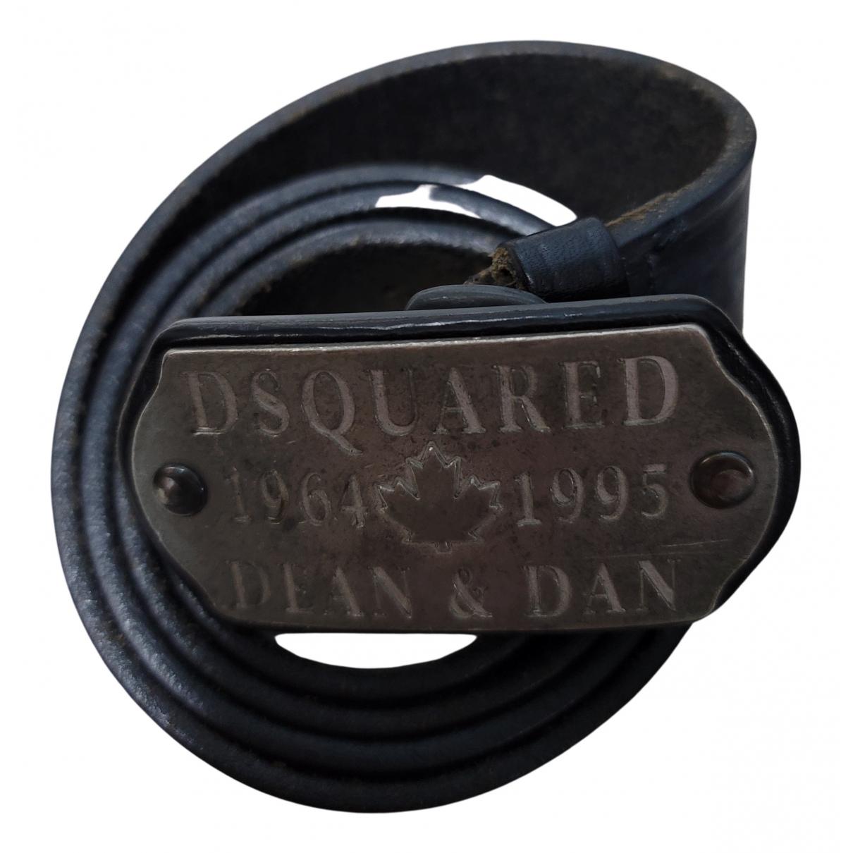 Dsquared2 N Black Leather belt for Men M international
