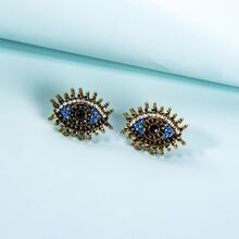Rhinestone Eye Stud Earrings