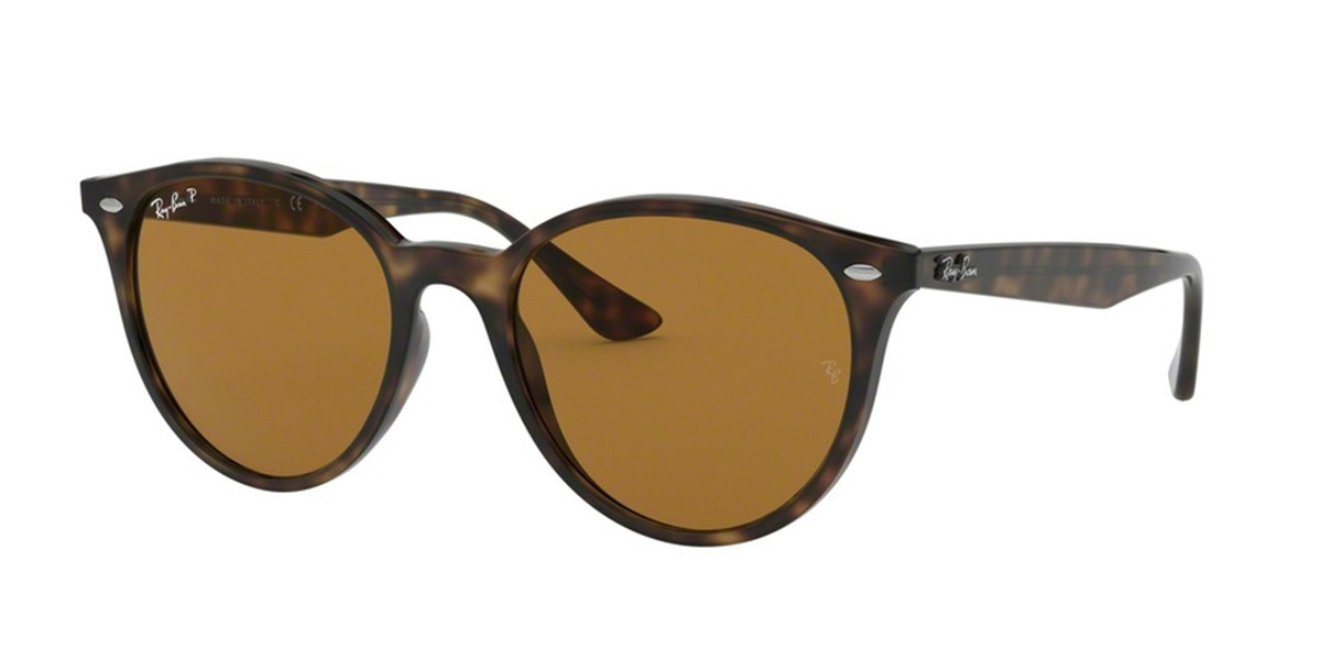 Ray-Ban RB4305F Asian Fit Polarized 710/83 Mens Sunglasses Tortoise Size 53