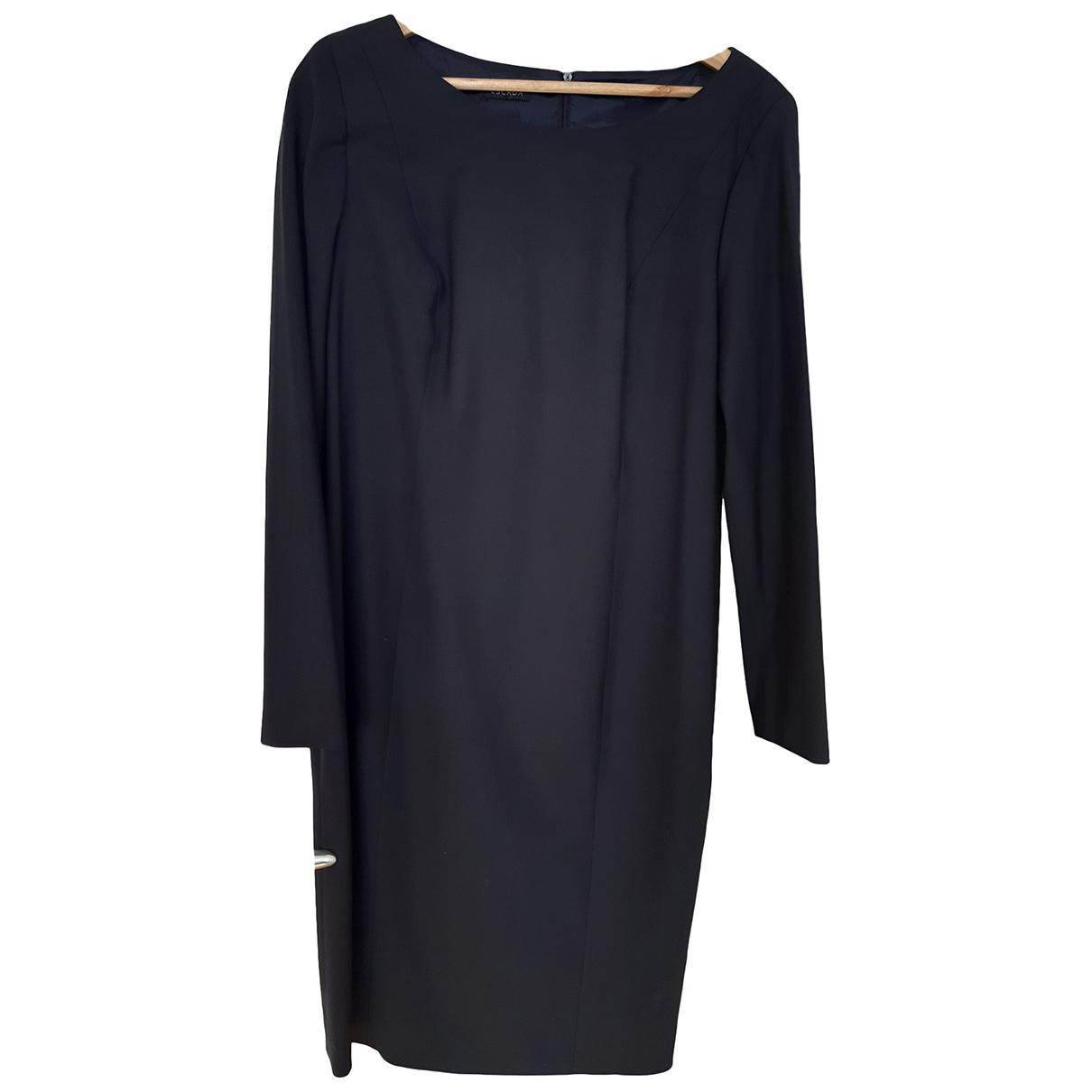 Escada \N Kleid in  Marine Wolle