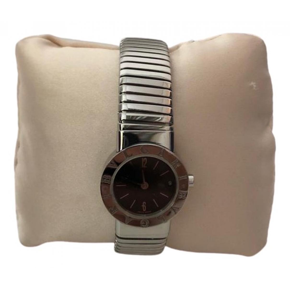 Bvlgari \N Silver Steel watch for Women \N