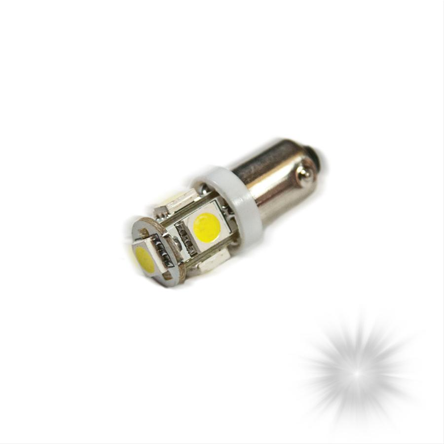 Oracle Lighting 4904-001 ORACLE BA9S 5 LED 3 Chip Bayonet Bulbs (Pair) - White