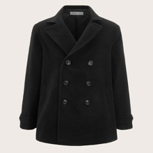 Mantel mit eingekerbtem Kragen und zweireihigen Knopfen