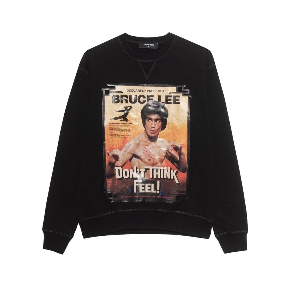 Dsquared2 Bruce Lee Sweatshirt Colour: BLACK, Size: MEDIUM