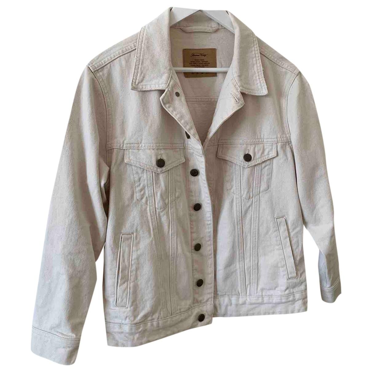 American Vintage \N Jacke in  Ecru Denim - Jeans