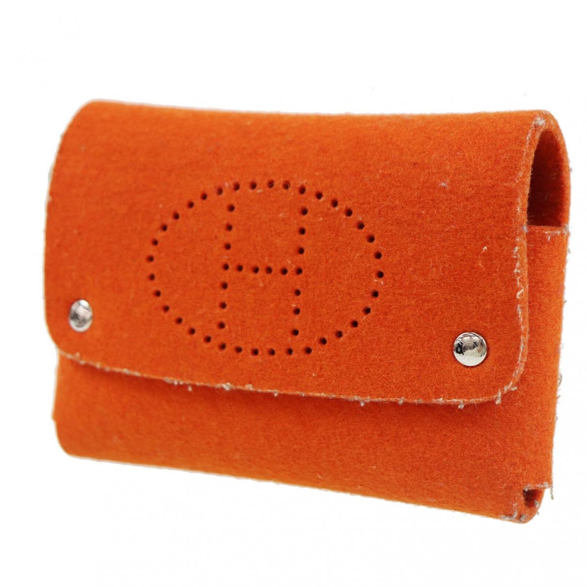 Hermes - Pochette   pour femme en cuir - orange