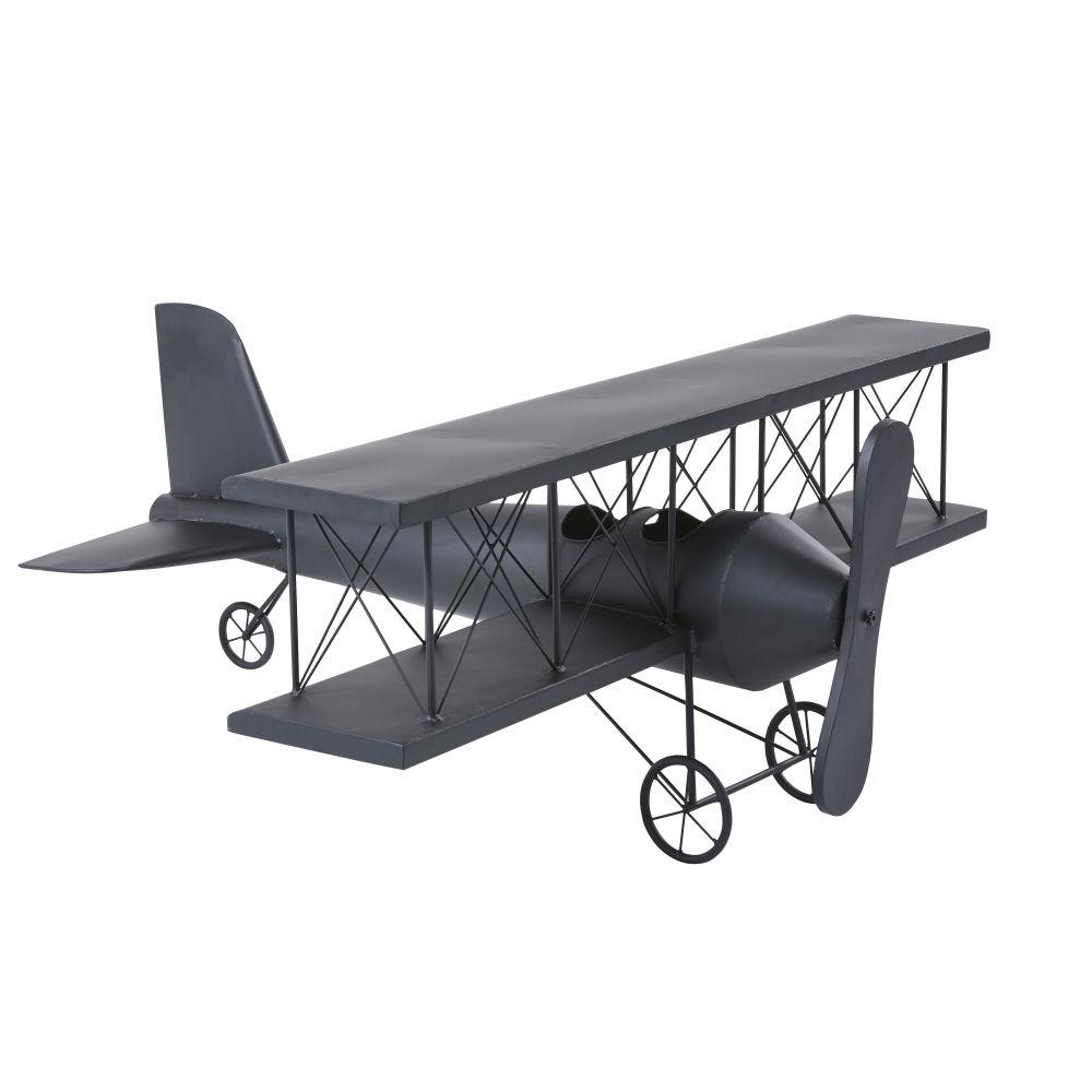 Flugzeug aus Metall, mattschwarz L94