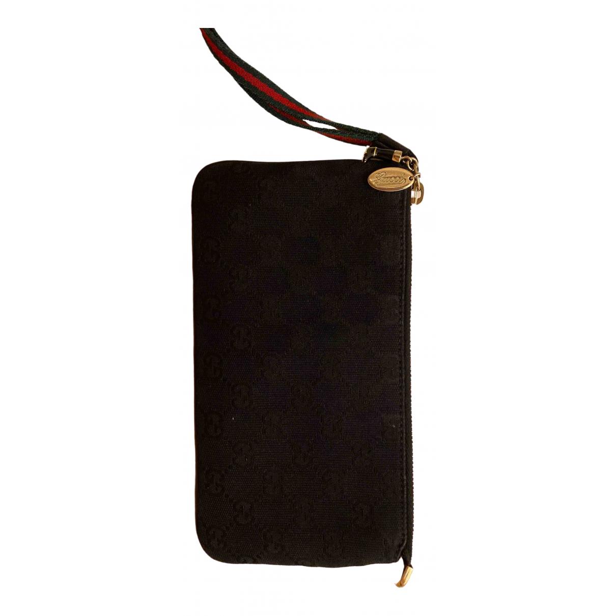 Gucci \N Black Cotton Purses, wallet & cases for Women \N