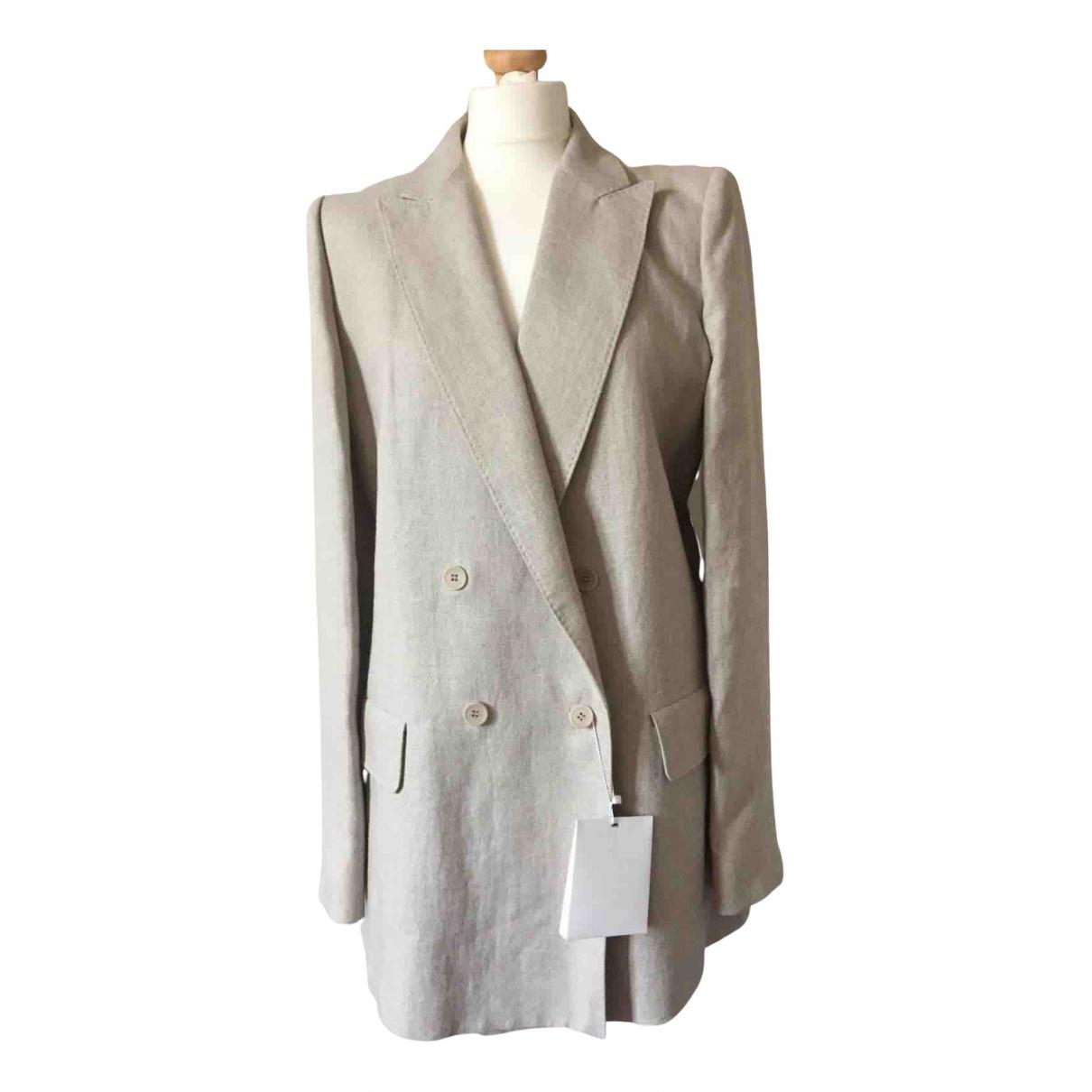 - Veste   pour femme en lin - beige