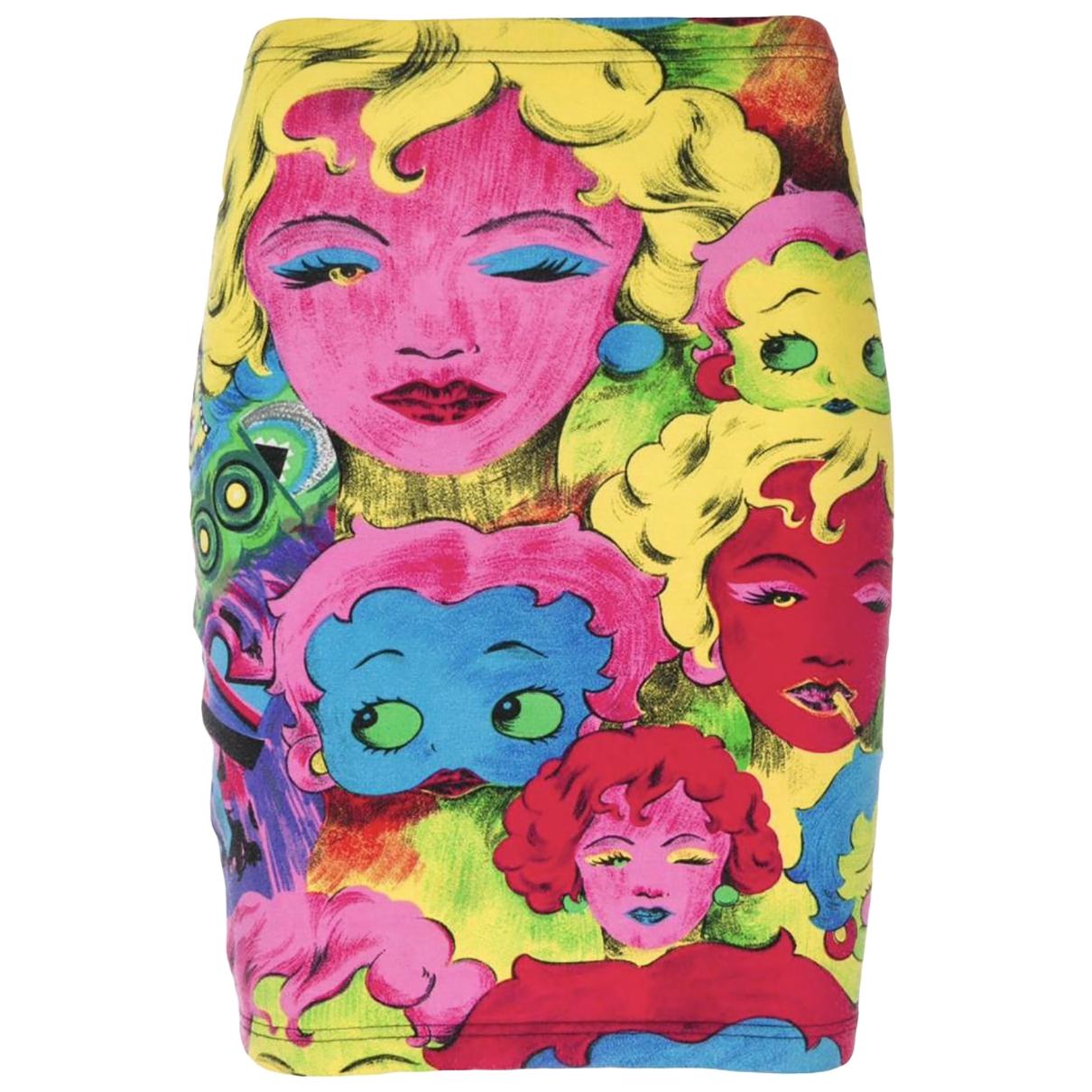 Versace Jean - Jupe   pour femme en coton - elasthane - multicolore