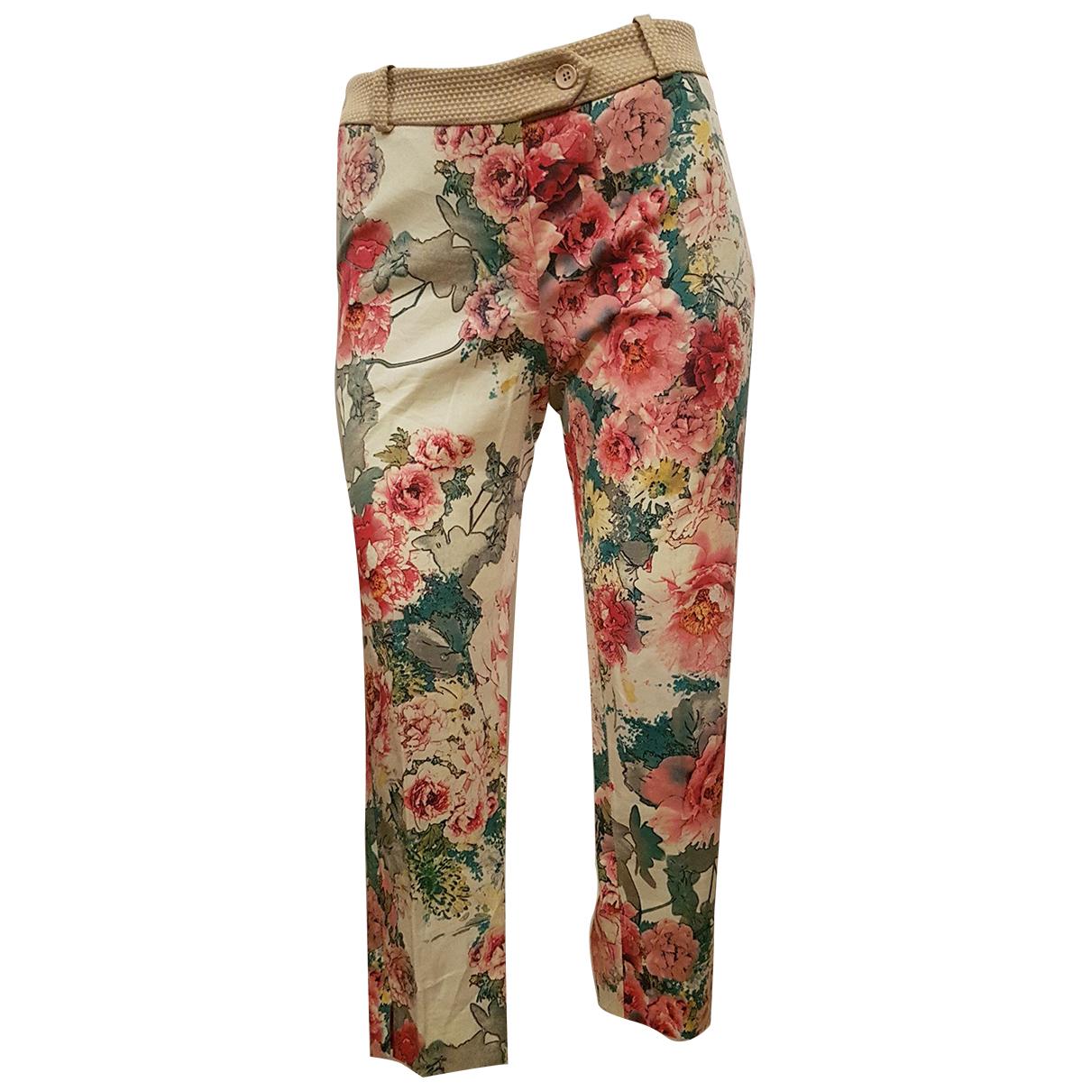 Impérial \N Multicolour Cotton Trousers for Women XS International