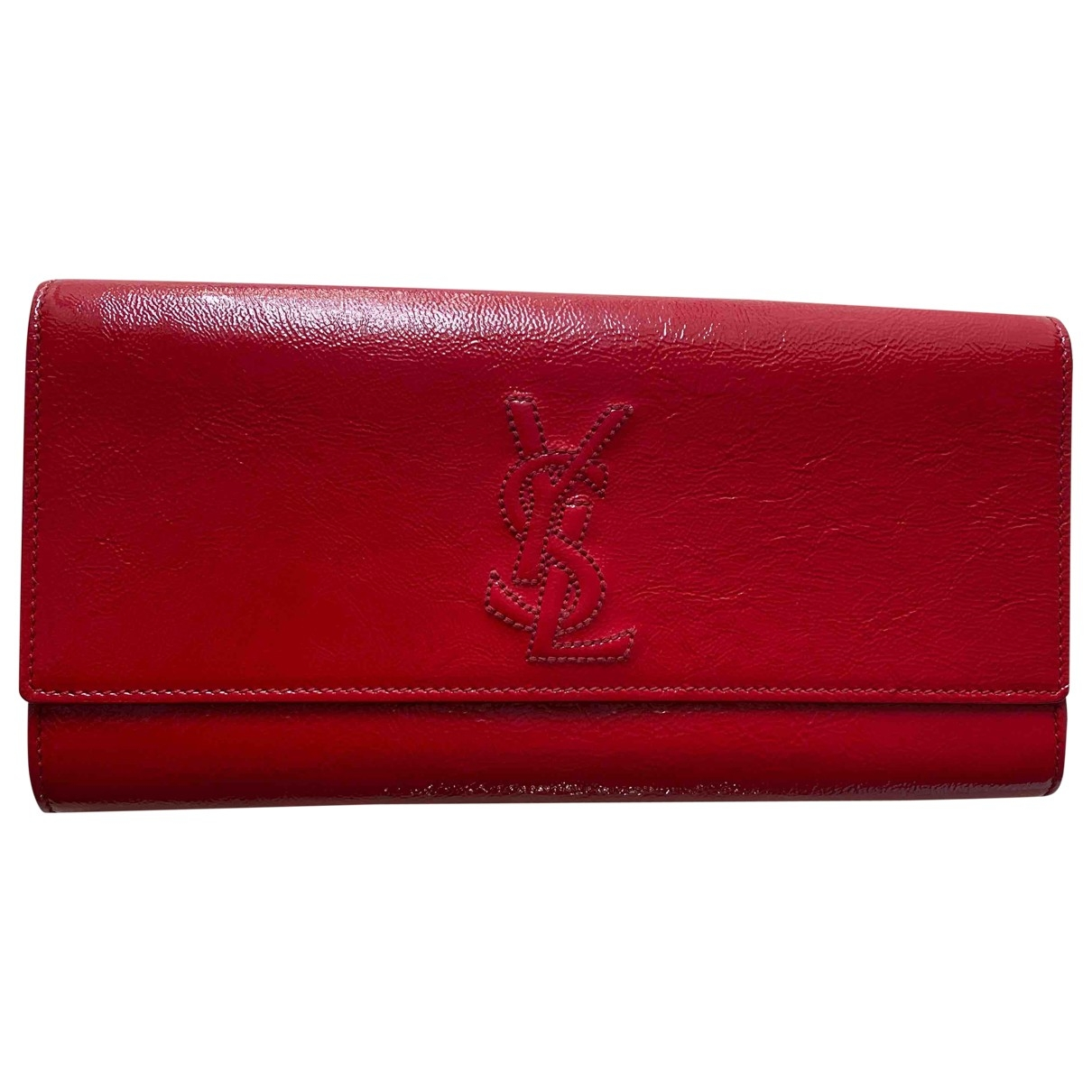 Yves Saint Laurent \N Clutch in  Rot Lackleder