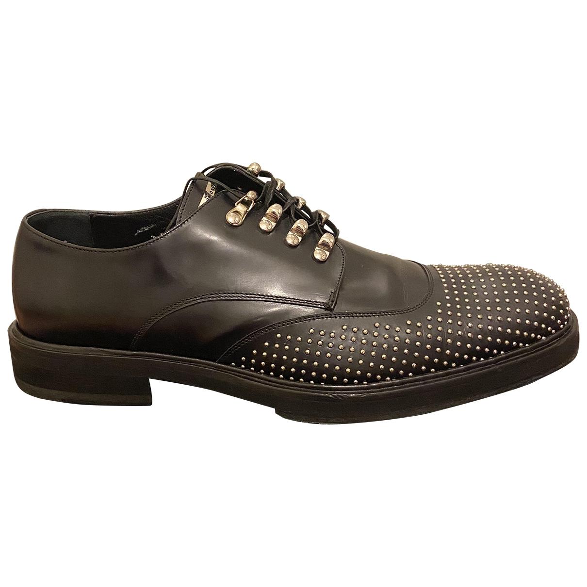 John Richmond \N Black Leather Lace ups for Men 42 EU