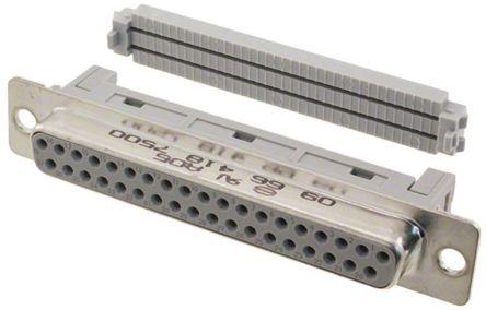 HARTING , D-Sub Standard 2.77mm Pitch 37 Way IDC D-sub Connector, Socket
