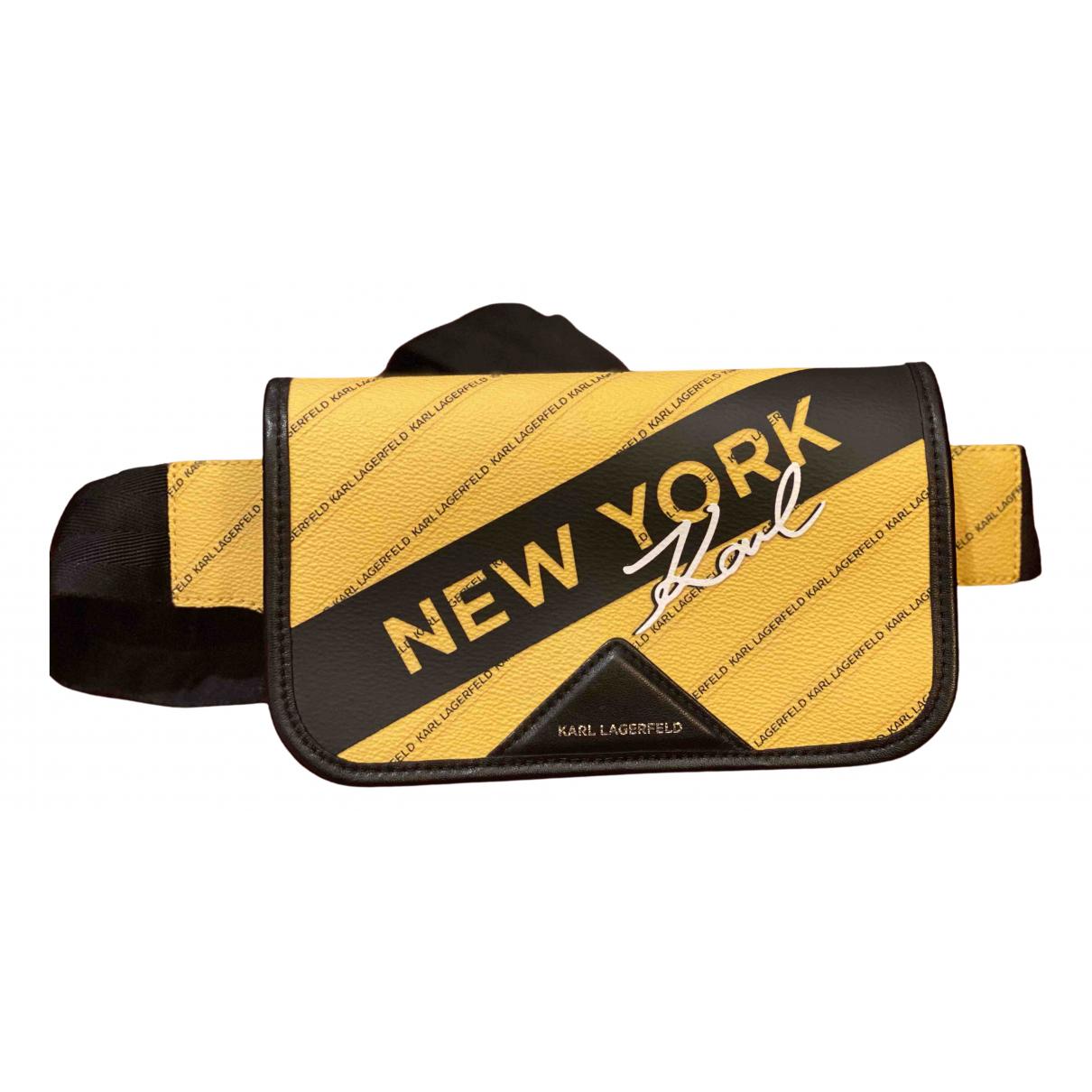 Karl Lagerfeld N Yellow Pony-style calfskin Clutch bag for Women N