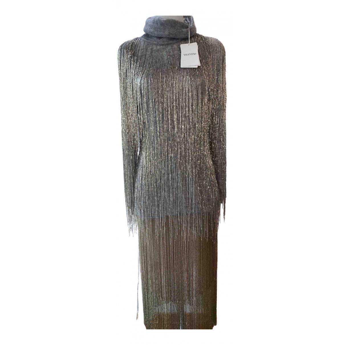 Valentino Garavani - Robe   pour femme en laine - metallise