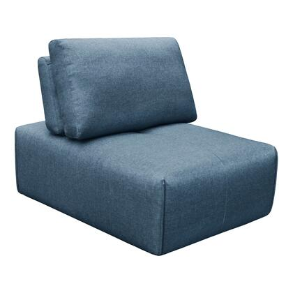 Nathaniel Collection MT-1008-19 Slipper Chair with Solid Eucalyptus in Blue