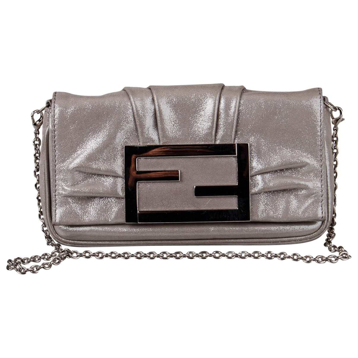 Fendi N Silver Leather Clutch bag for Women N