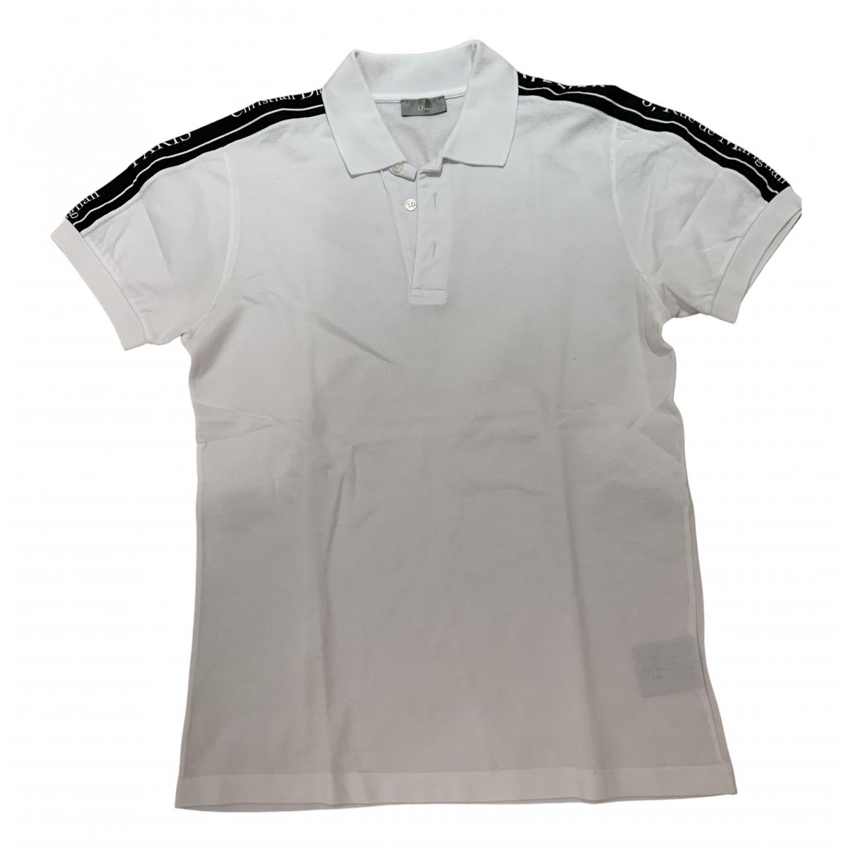 Polo en Algodon Blanco Dior Homme