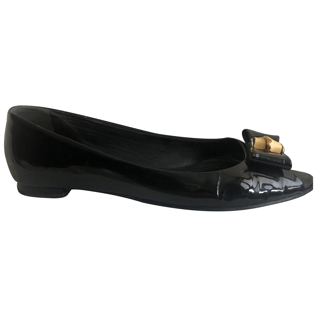 Gucci \N Black Patent leather Ballet flats for Women 39 IT