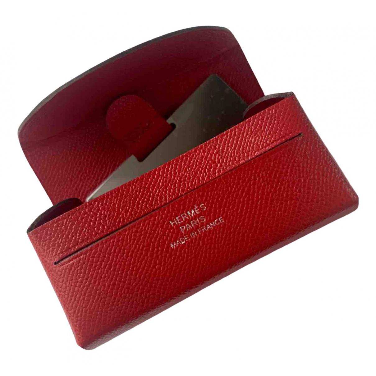 Hermes - Petite maroquinerie   pour femme en cuir - rouge