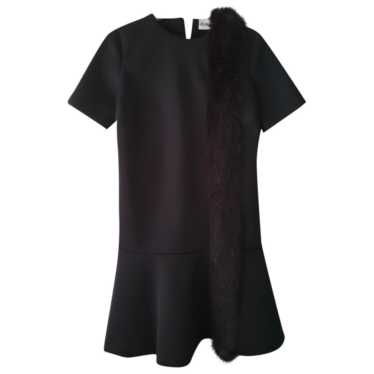 Ainea \N Kleid in  Schwarz Synthetik