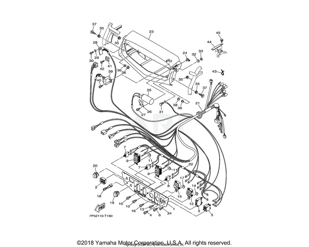 Yamaha OEM 7C5-H7107-00-00 CONDENSER ASSY