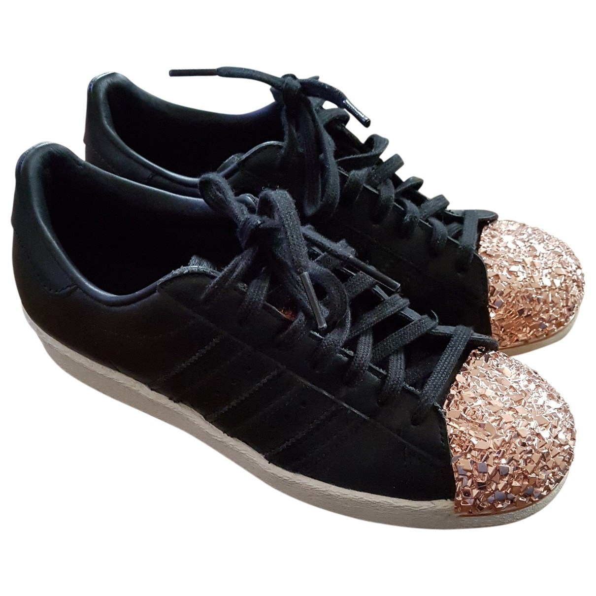 Adidas Superstar Black Leather Trainers for Women 37.5 EU