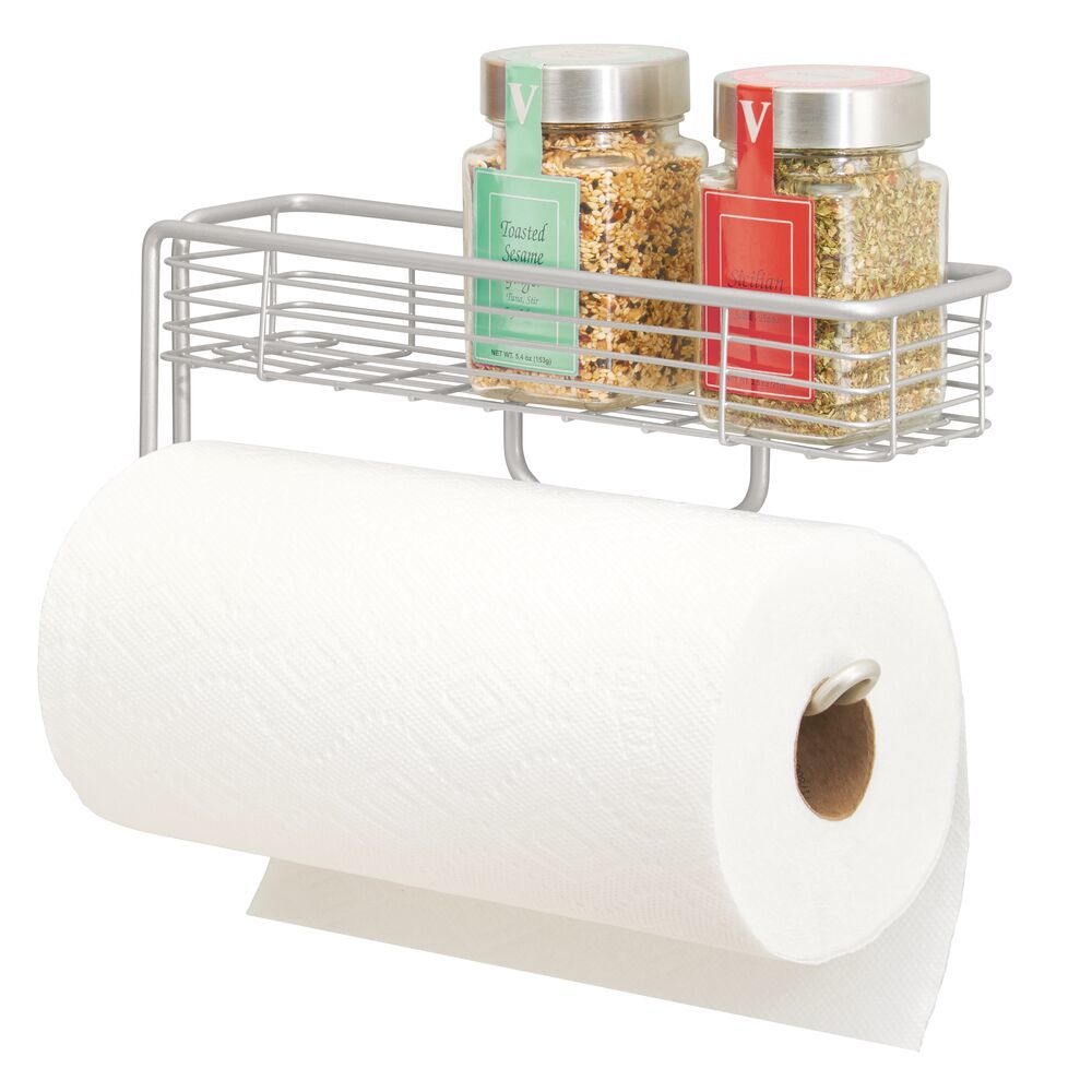 Wall Mount Paper Towel Holder - Light  in Gray, 3.5
