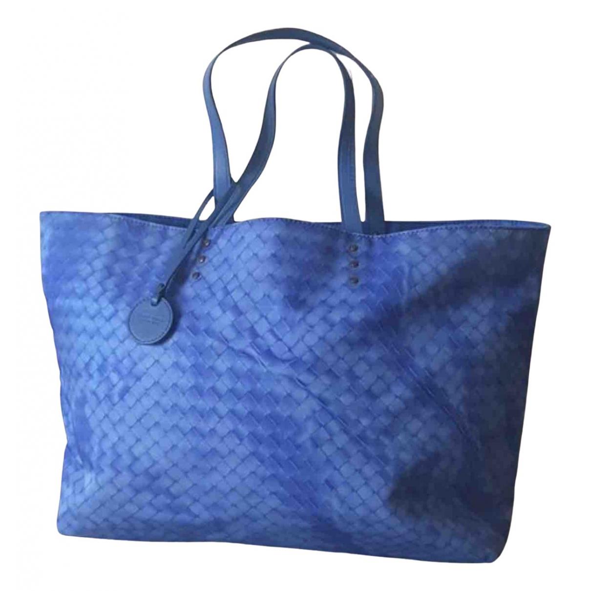 Bottega Veneta - Sac a main Fourre-Tout  pour femme en toile - bleu