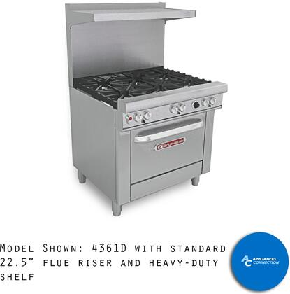H4361D Ultimate Range Series 36 Gas/Electric Range with Six Standard Non-Clog Burners and Standard Cast Iron Grates  Up to 198000 BTUs (NG)/144000