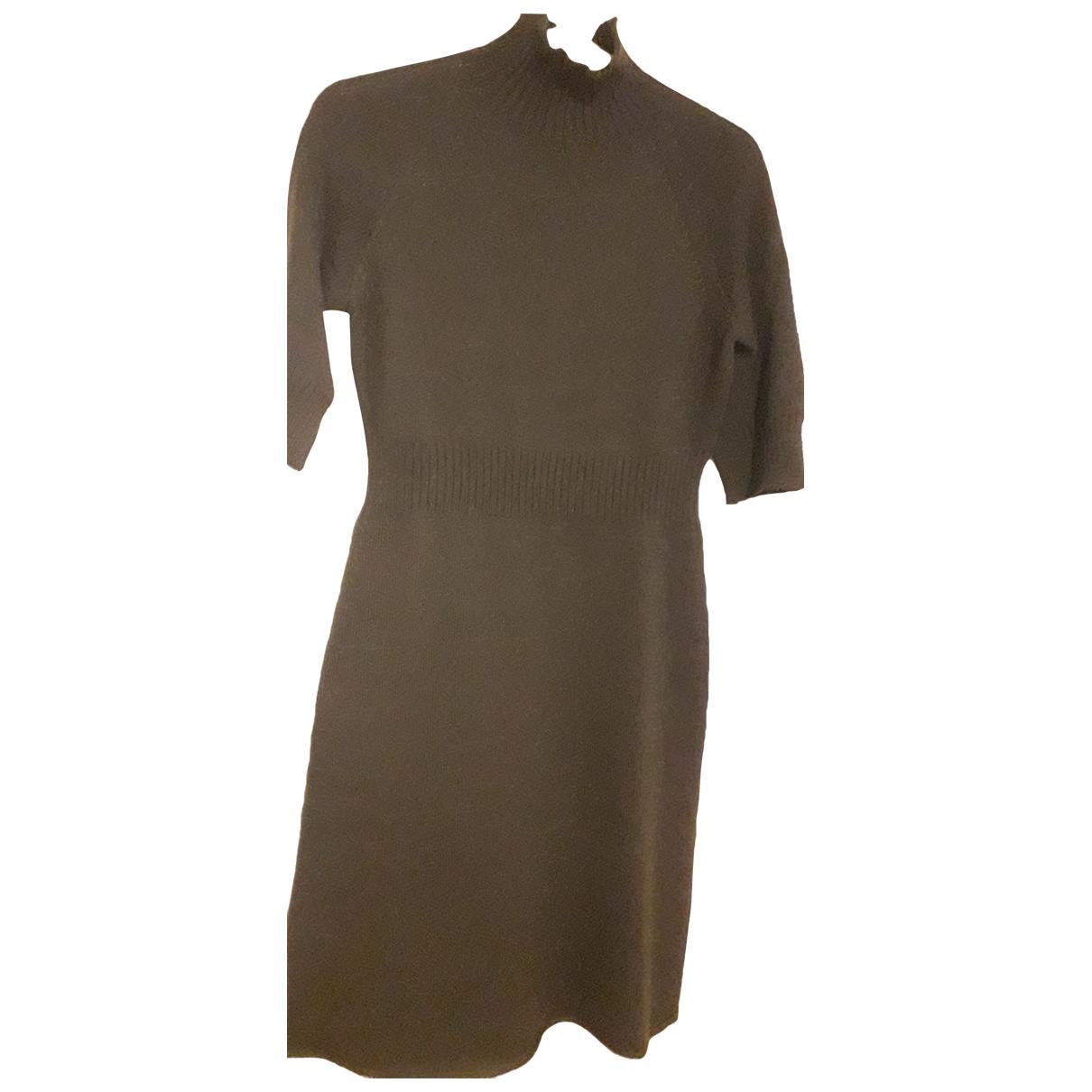 Stefanel - Robe   pour femme en laine - noir