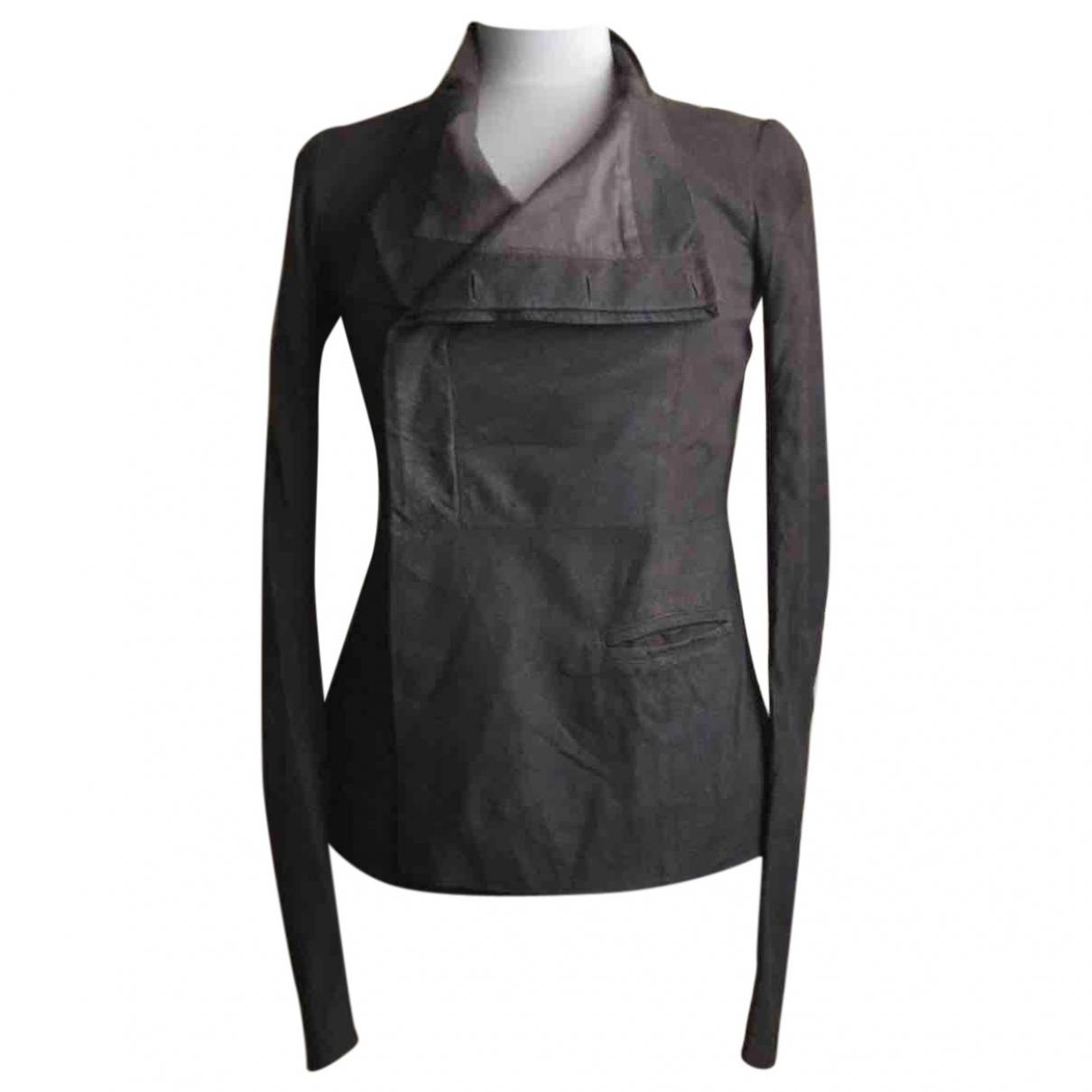 Rick Owens \N Ecru Leather Leather jacket for Women 40 IT