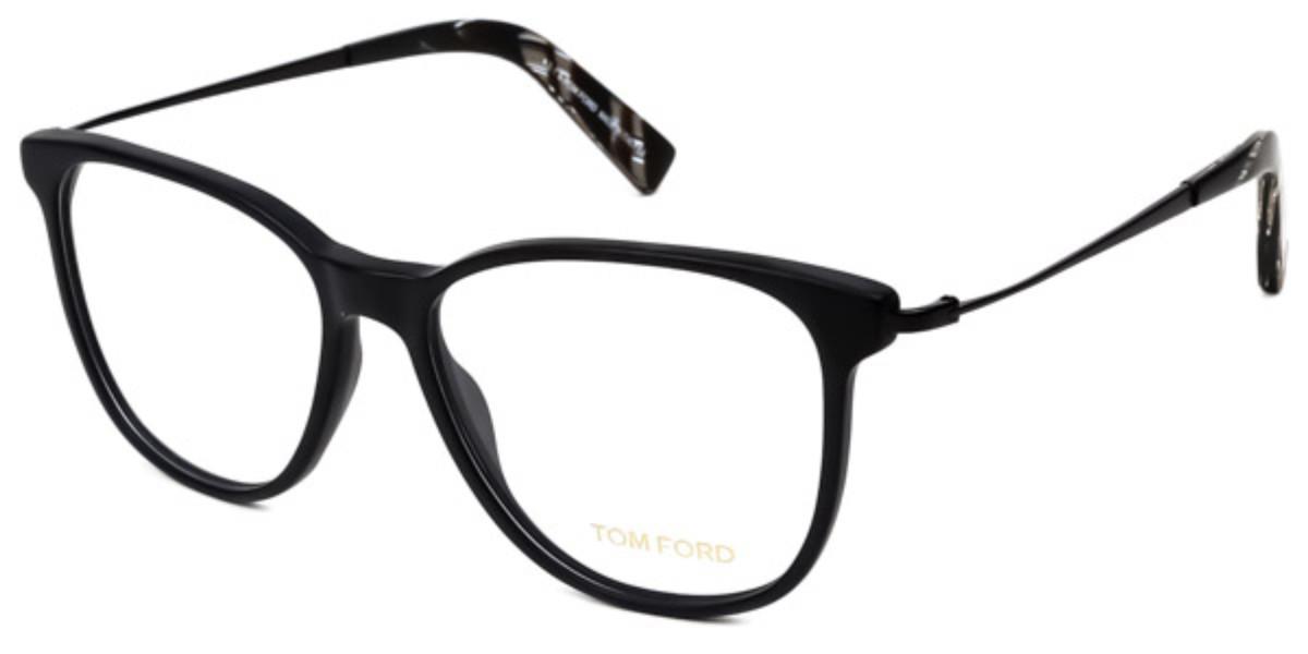 Tom Ford FT5384 002 Men's Glasses Black Size 51 - Free Lenses - HSA/FSA Insurance - Blue Light Block Available