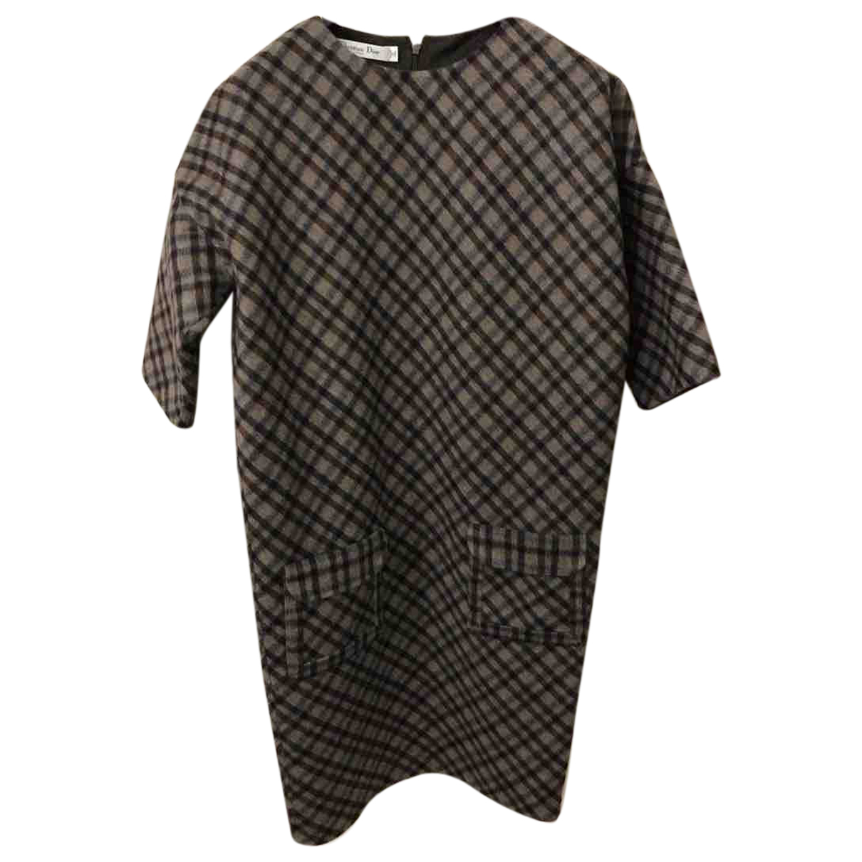 Dior - Robe   pour femme en laine - marron