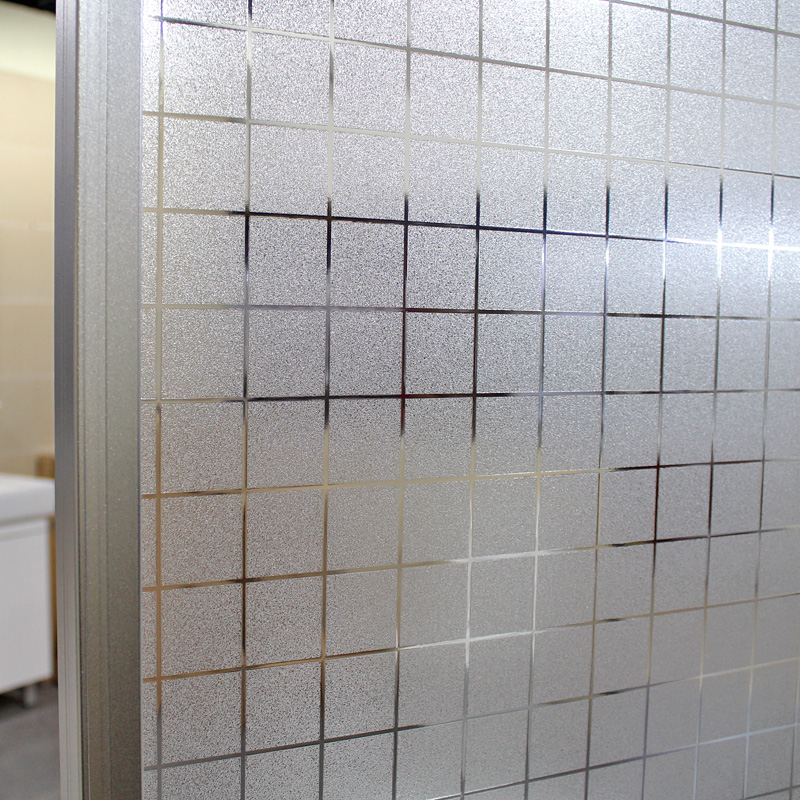 Plaid Static Decorative Privacy No Glue Window Film