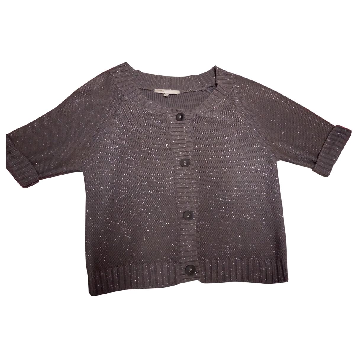 Maje \N Pullover in  Khaki Baumwolle