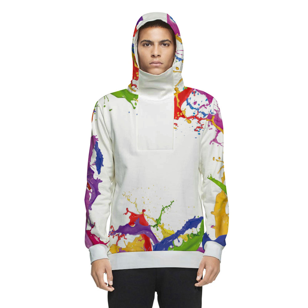 Unisex Cool Design Vibrant Color Pullover 3D Painted Hoodie