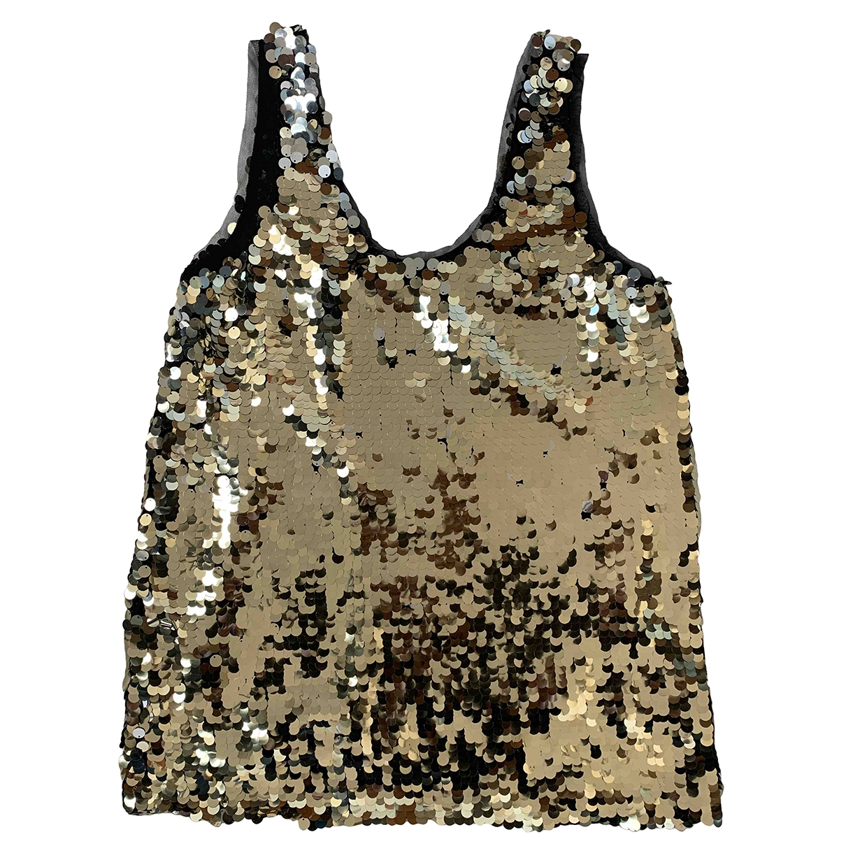 Zara \N Metallic Glitter  top for Women L International
